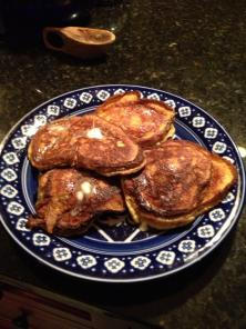 Barbaras cream cheese pancakes